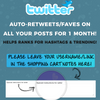Twitter Auto-Retweets+Faves - 1 Month