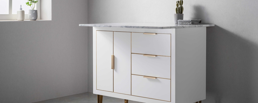 Rubeza - Anatolia Collection Kitchen Island with Quartz Marble Top