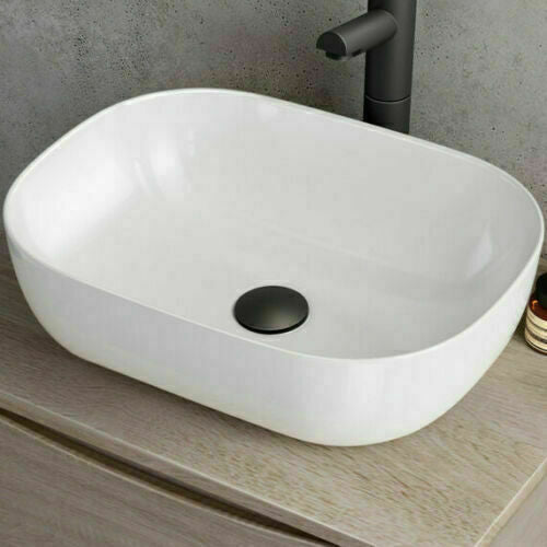 Bathroom Pop Up Slotted Basin Waste Black Matt Click Clack - BWB03