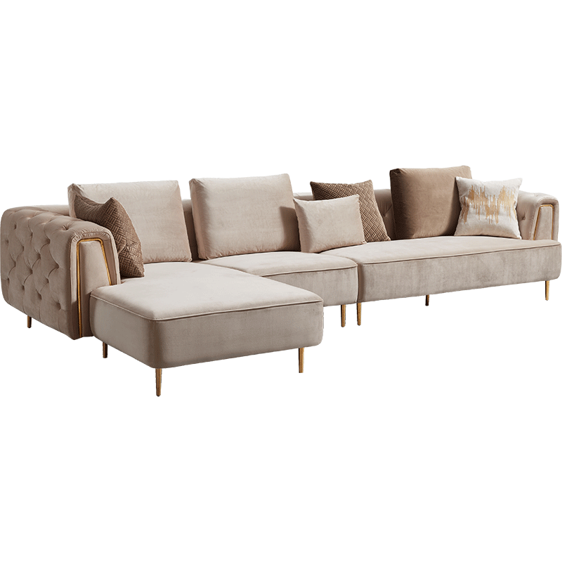 Rubeza Sofia Big Left Hand Facing Corner Sofa  - Warm Sand