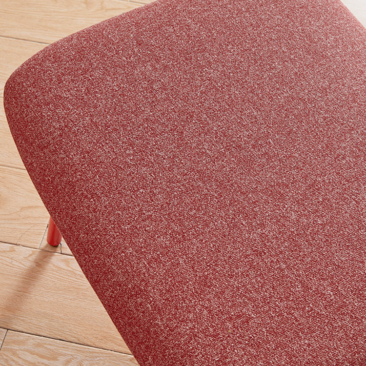 Rubeza Quinn Collection Ottoman Footstool - Red - HYA-5226-AF