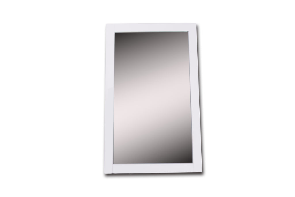 Rubeza Fabien 20'' White Framed Mirror