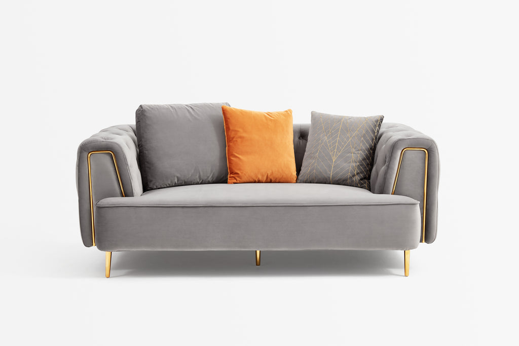 Rubeza Sofia 2 Seater Sofa - Medium Grey