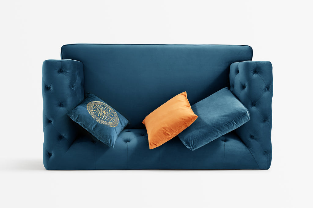 Rubeza Sofia 2 Seater Sofa - Dark Blue