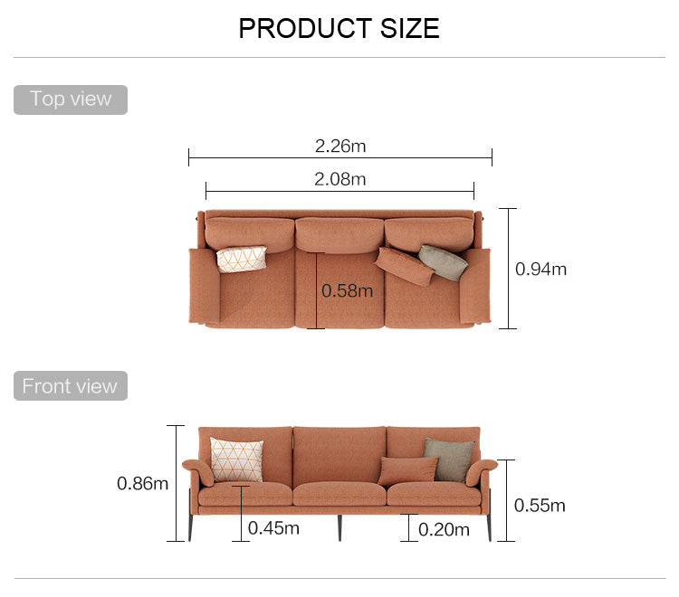 Rubeza Malibu Collection 3 Seater Sofa - Copper Brown