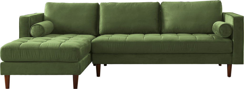 Rubeza Scott 4 Seater Left Hand Facing Chaise End Corner Sofa , Grass Green