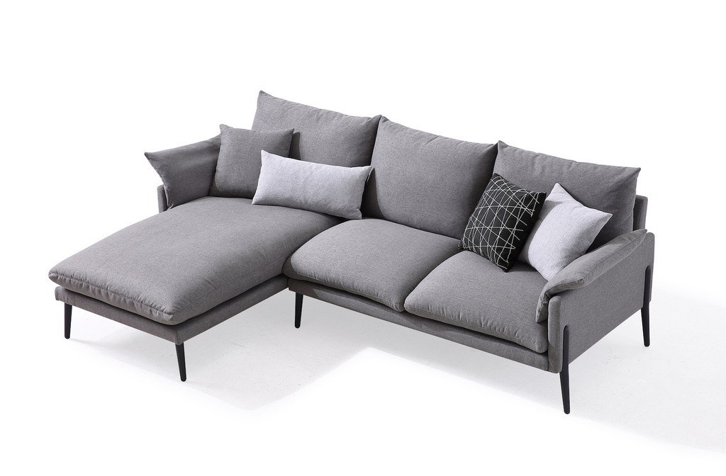 Rubeza Malibu Collection Left Hand Corner Sofa - Medium Gray