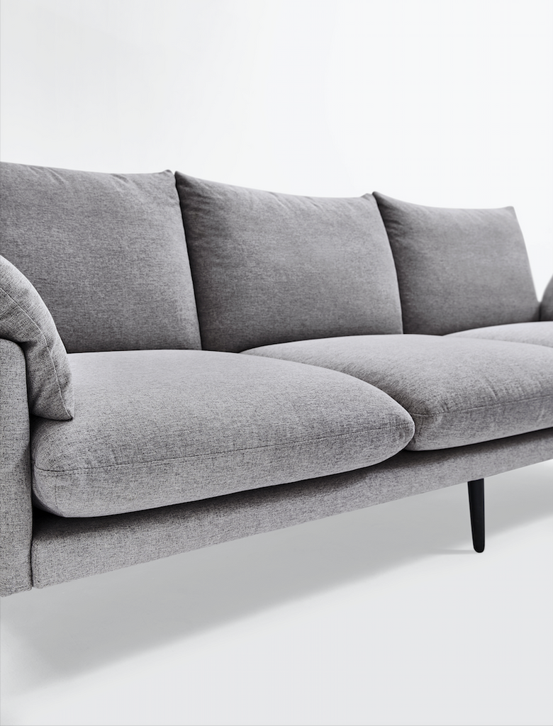 Rubeza Malibu Collection Left Hand Facing Corner Sofa - Medium Grey