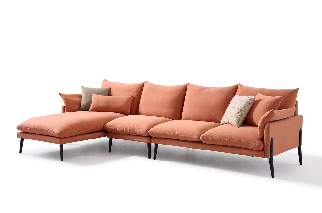 Rubeza Malibu Collection Big Left Hand Corner Sofa- Copper Brown