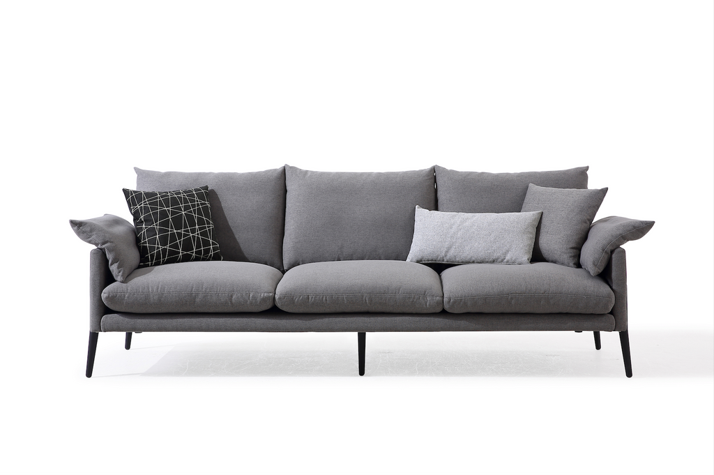 Rubeza Malibu Collection 3 Seater Sofa - Medium Gray