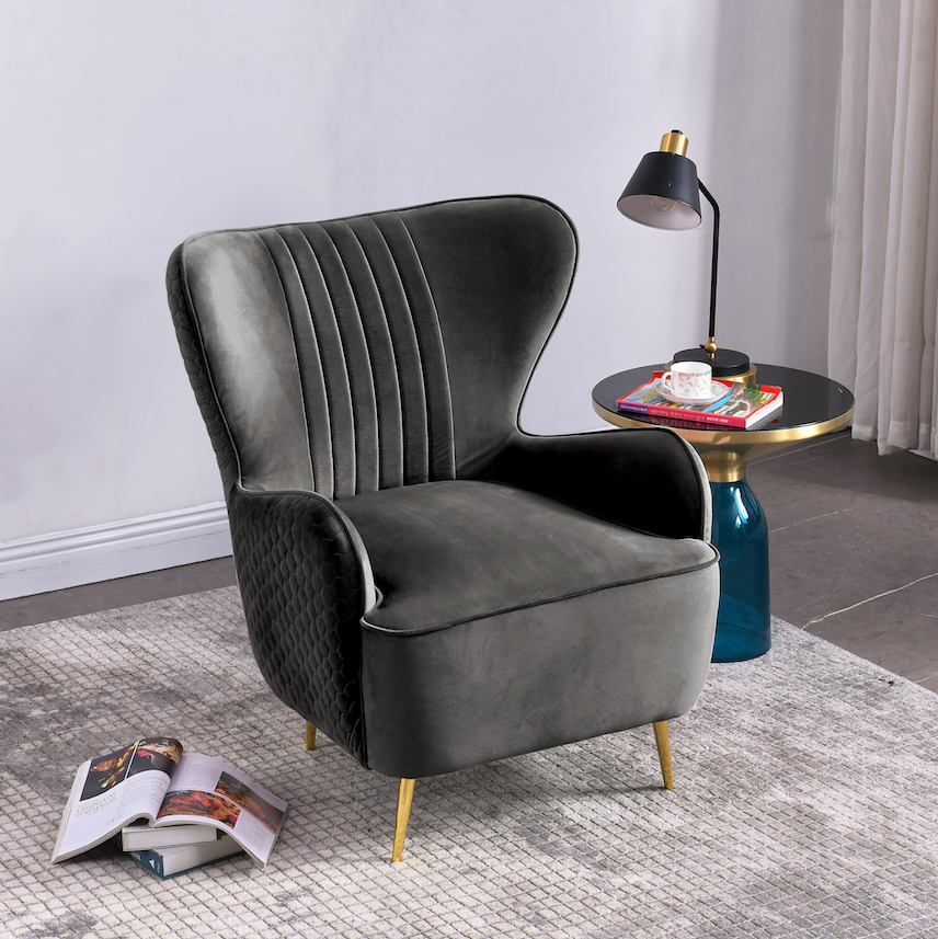Rubeza Lottie Collection Armchair - Light Grey - CH002CC25028A