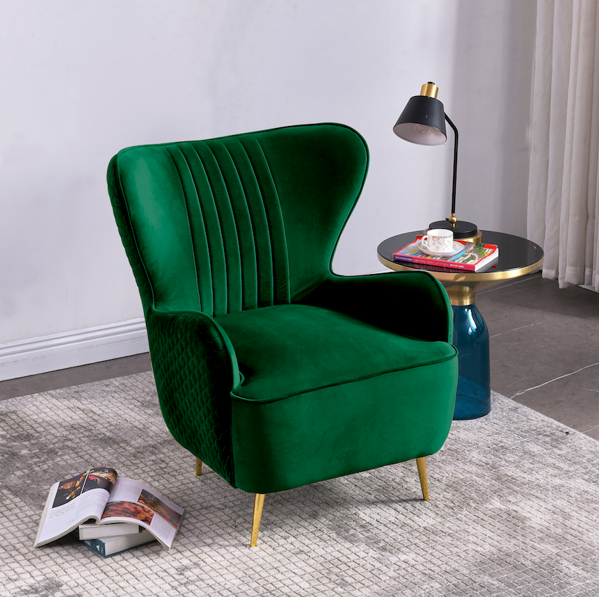 Rubeza Lottie Collection Armchair - Emerald Green - CH002CC25042A