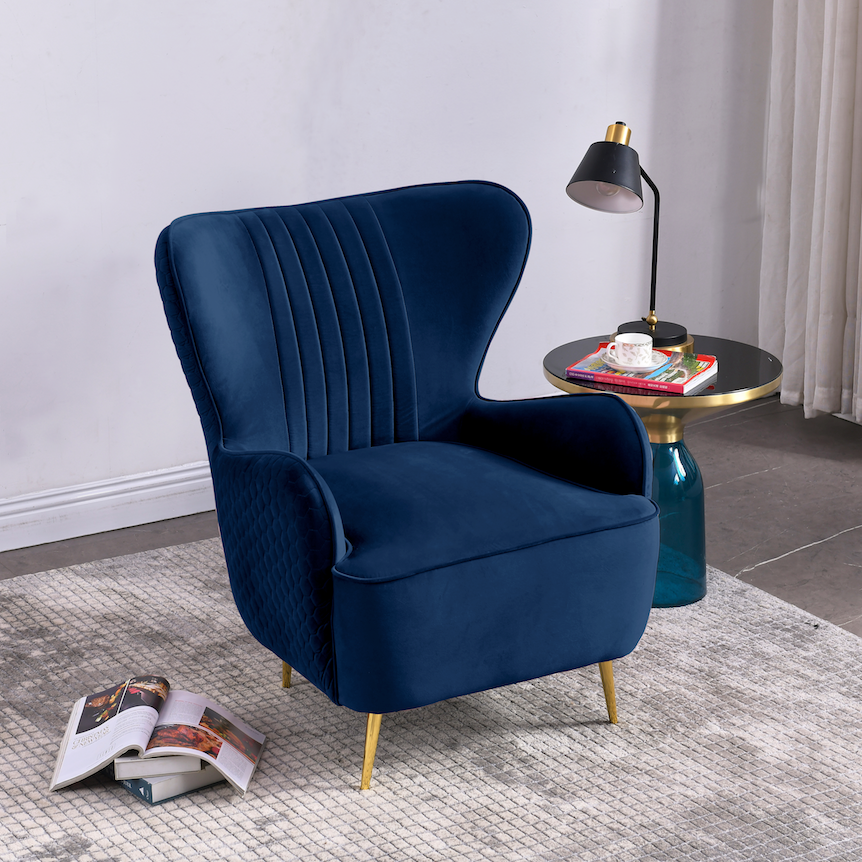 Rubeza Lottie Collection Armchair - Azure