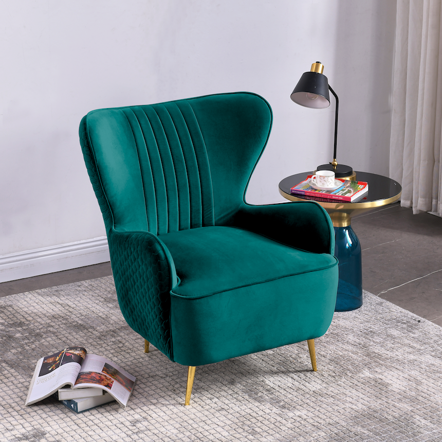 Rubeza Lottie Collection Armchair - Petrol - CH002CC25063A