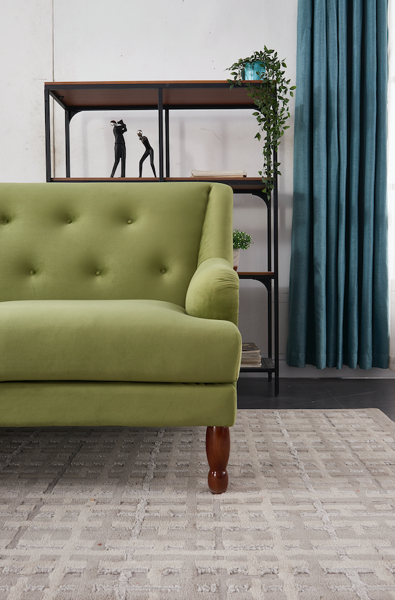 Rubeza Enise Collection Right Hand Facing Corner Sofa - Grass Green - 1801LM07341LR