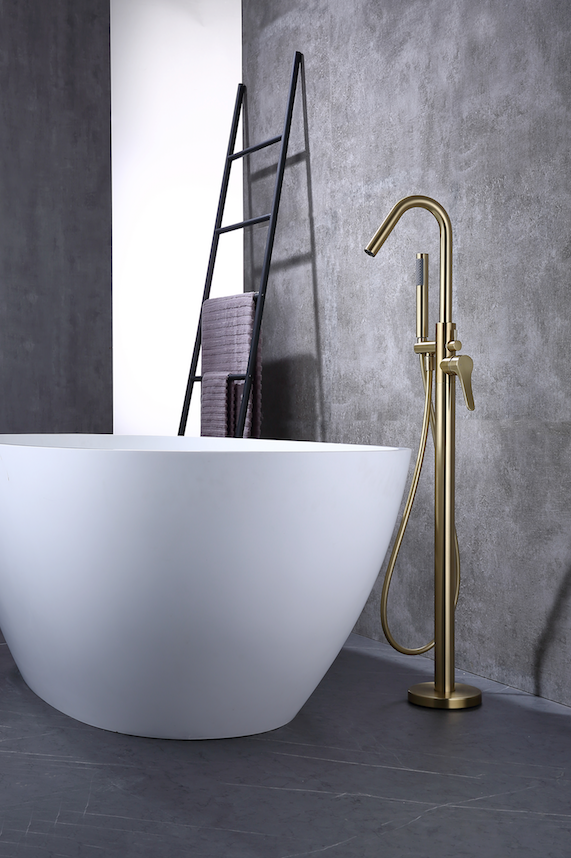 Rubeza Lucia Freestanding Bath Tap - Brushed Gold