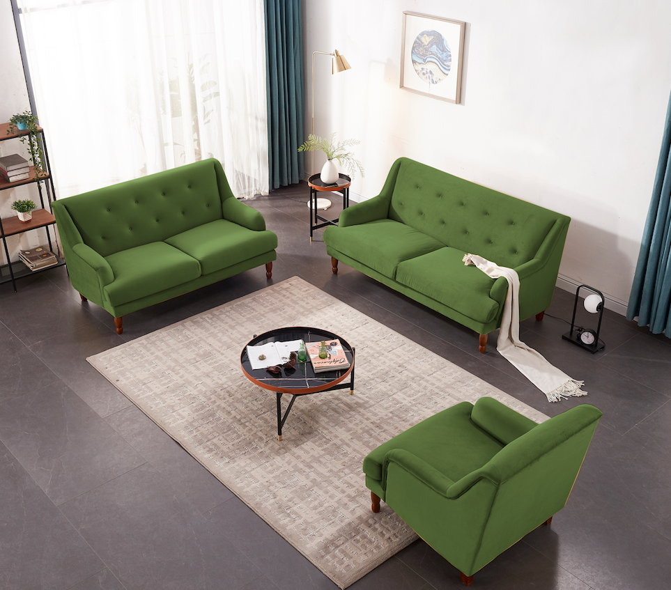Rubeza Enise Armchair - Grass Green