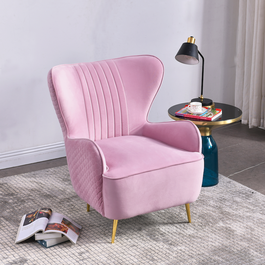 Rubeza Lottie Collection Armchair - Blush Pink - CH002LM07319A