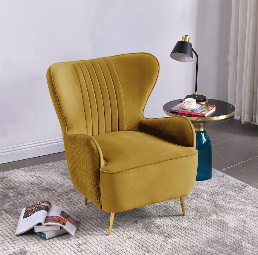 Rubeza Lottie Collection Armchair - Gold - CH002CC25044A