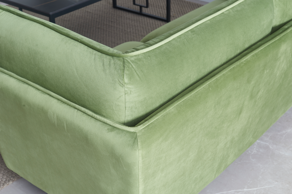 Rubeza Wes Collection 3 Seater Sofa  - Grass Green
