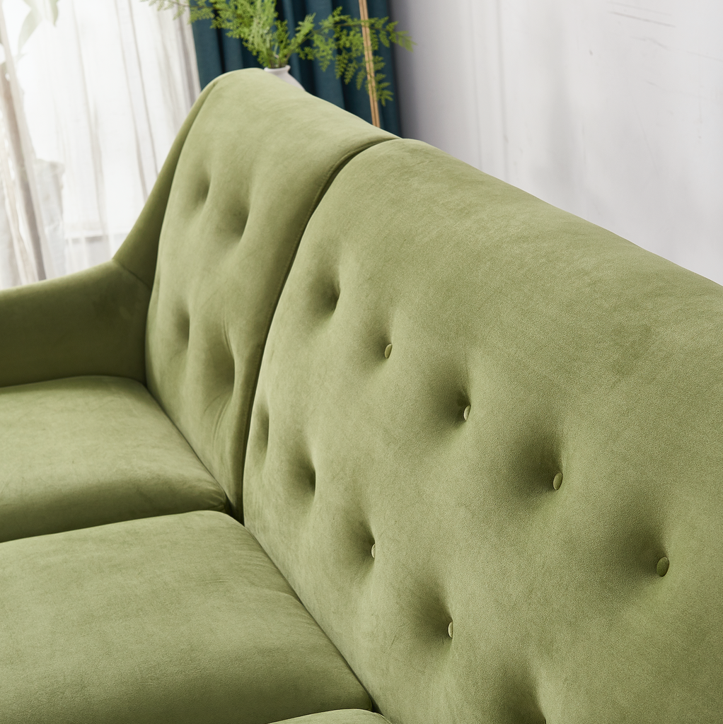 Rubeza Enise Collection Corner Sofa - Grass Green - 1801LM07341LL