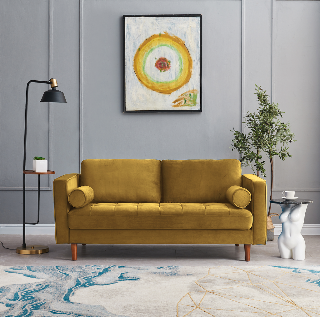 Rubeza Scott 2 Seater Sofa  - Gold - 1807CC250442
