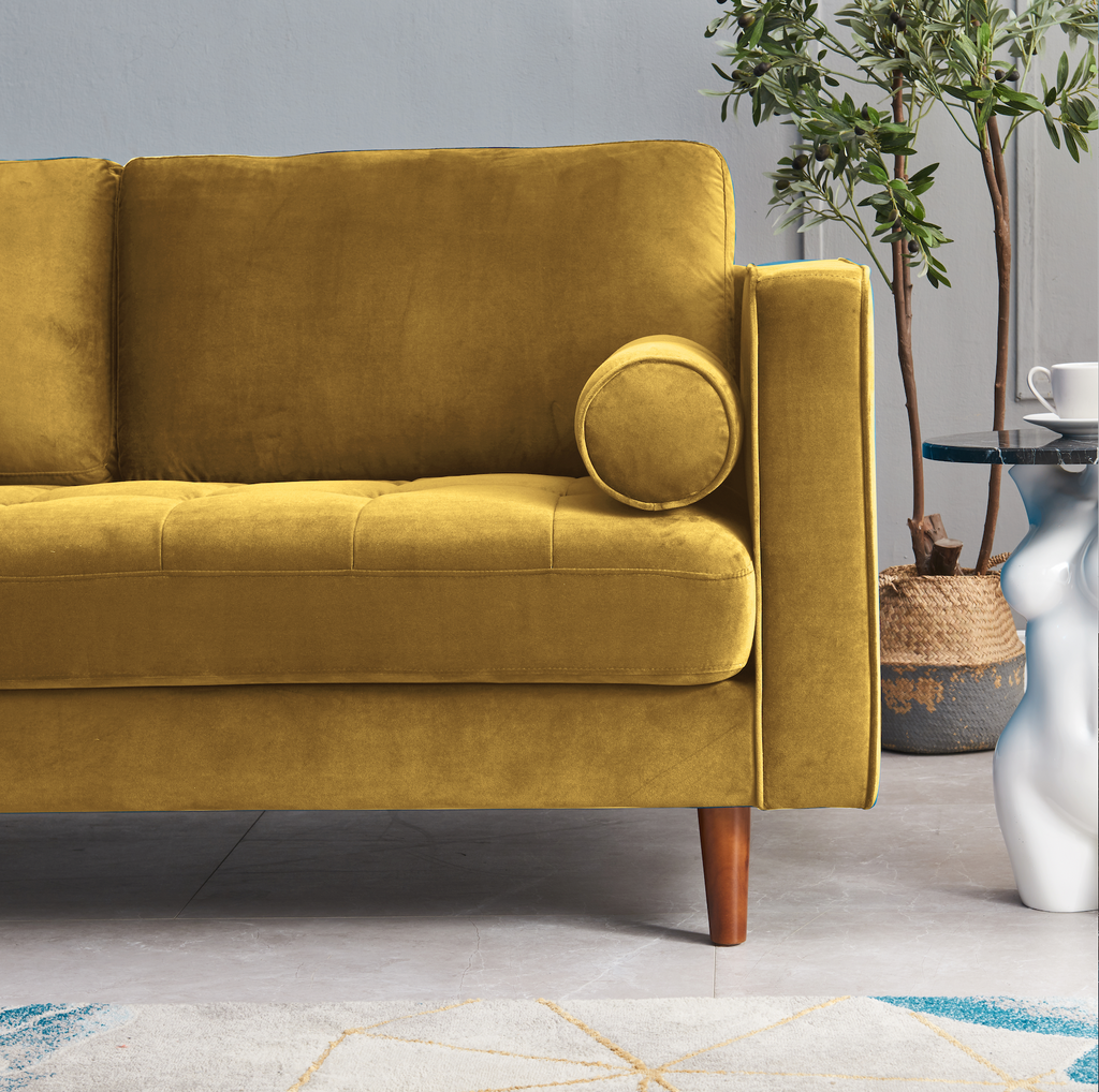 Rubeza Scott 2 Seater Sofa  - Gold