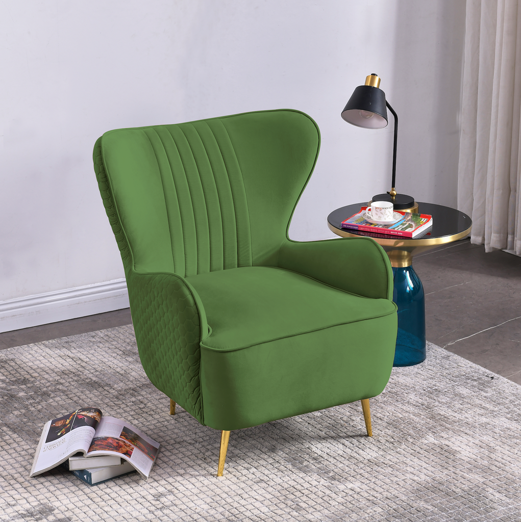 Rubeza Lottie Collection Armchair - Grass Green