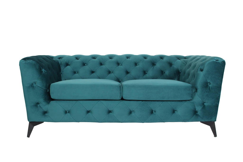 RUBEZA Sloan Collection 2 Seater Sofa - Petrol
