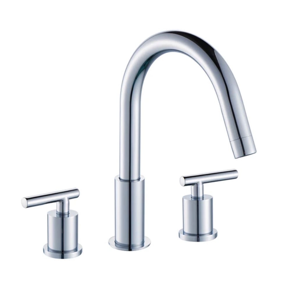 RUBEZA KREMM Chrome 3 Hole Basin Mixer Tap