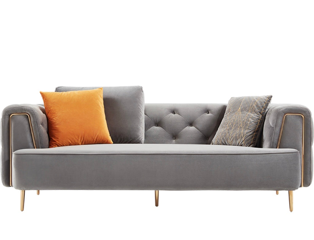 Rubeza Sofia 3 Seater Sofa -  Medium Grey