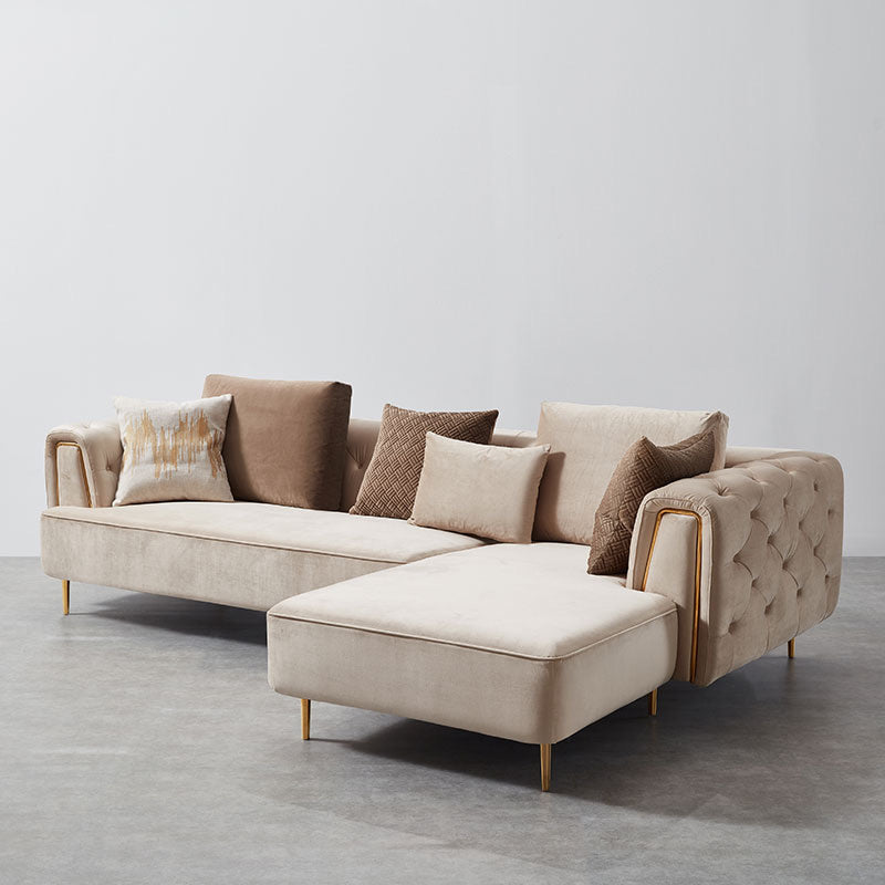 Rubeza Sofia Right Hand Facing Corner Sofa - Warm Sand
