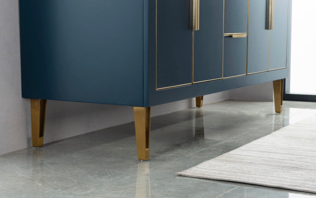 Rubeza Blue Dukes 1500mm Kitchen Island with 2cm Italian Carrara Marble Top