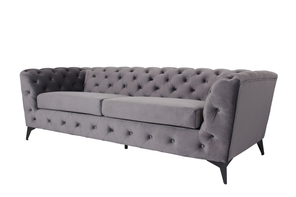 RUBEZA Sloan Collection 3 Seater Sofa - Grey