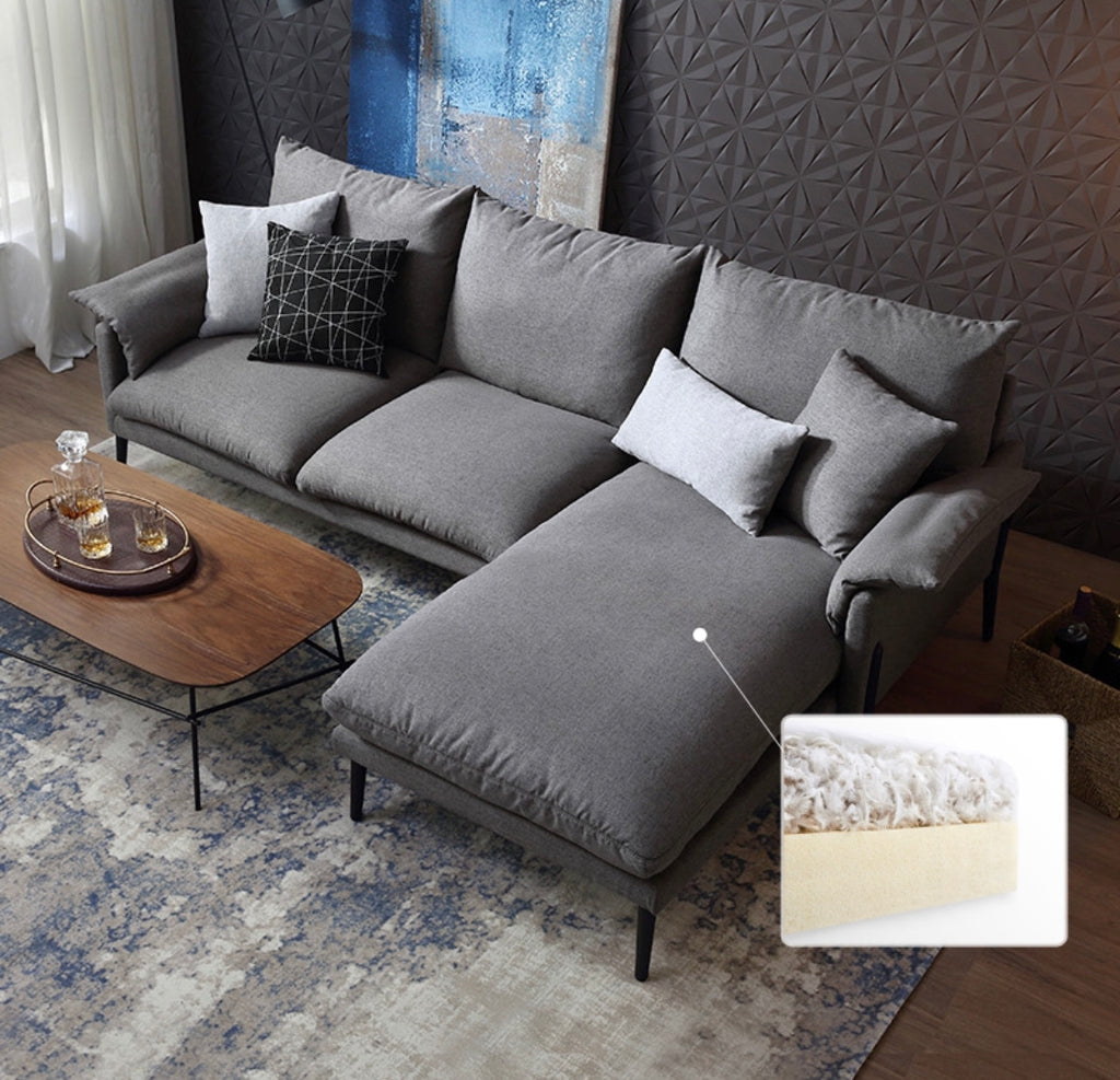 Rubeza Malibu Collection Right Hand Facing Corner Sofa - Medium Grey