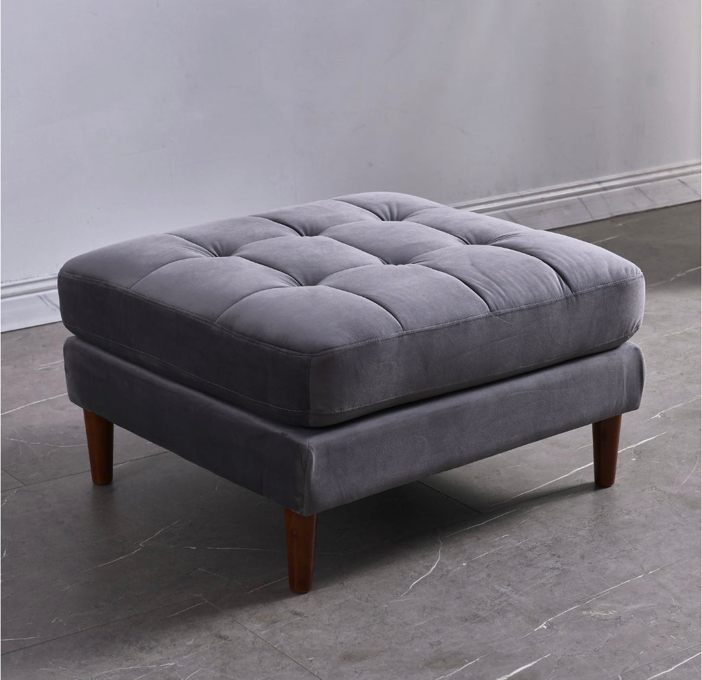 Rubeza Scott Ottoman Bench - Light Grey - 1807CC25028O