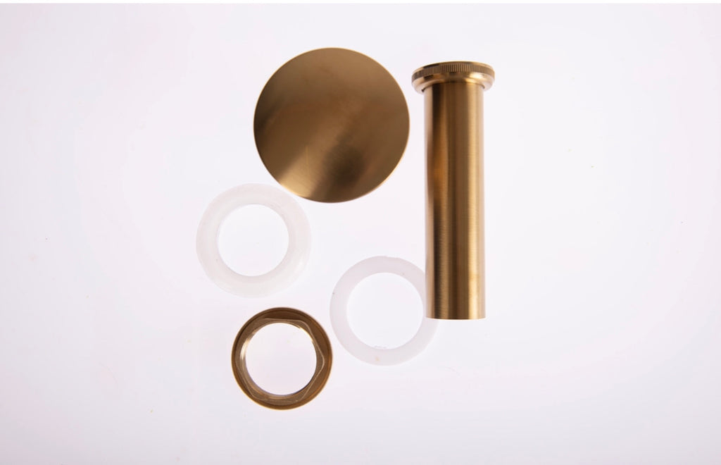 Brushed Gold Click Clack Unslotted Basin Waste