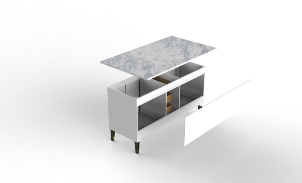 Rubeza 1500mm Didim Collection Sideboard with Carrara Marble Top
