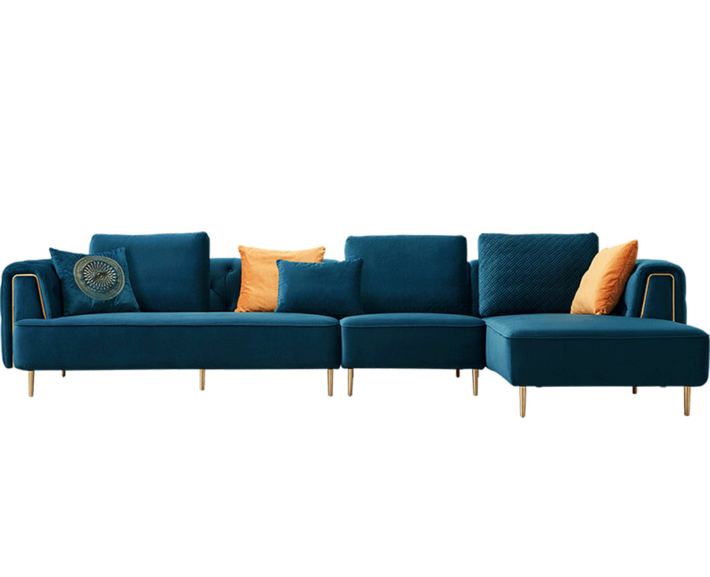 Rubeza Sofia Collection Right Hand Facing Big Corner Sofa - Dark Blue