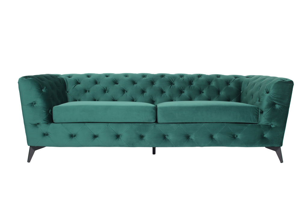 RUBEZA Sloan Collection 3 Seater Sofa - Green