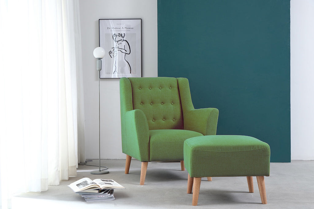 Rubeza Flynn Collection Green Armchair HYB-2005-A