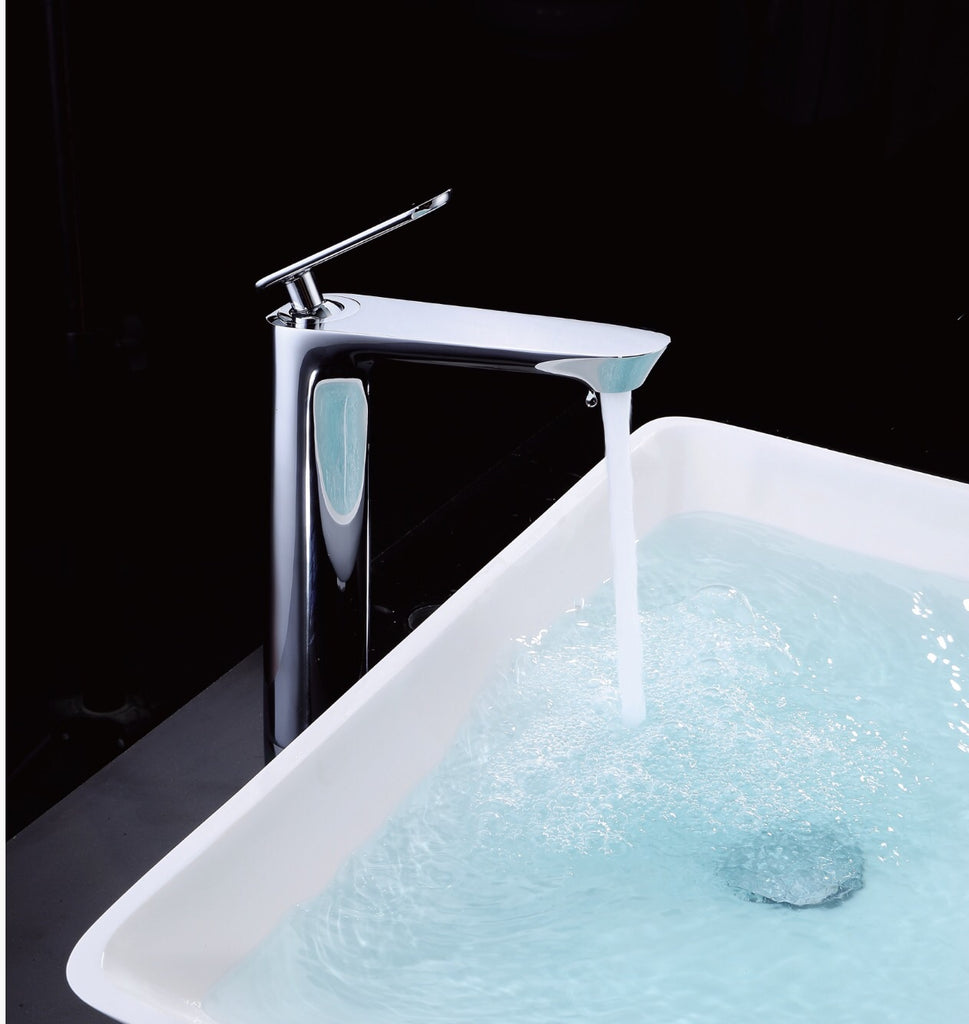 Rubeza Tall Concetto Basin Mixer Tap Chrome
