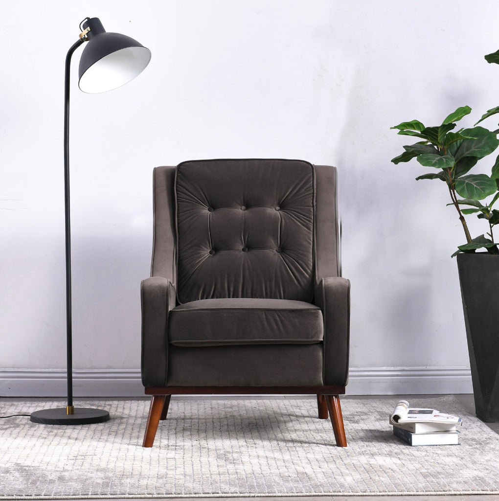 Rubeza Scott Collection Armchair - Dark Grey