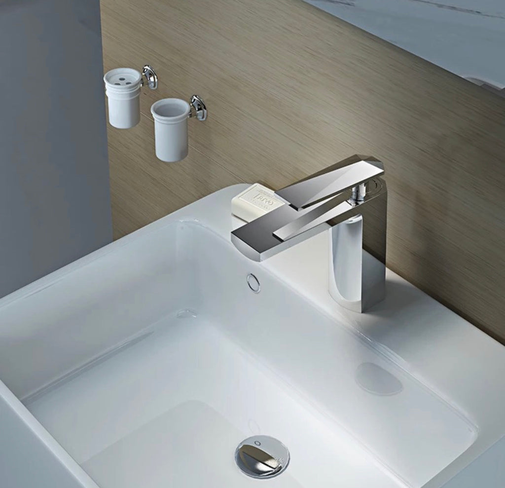 Rubeza Starck Basin Mixer Tap - Chrome
