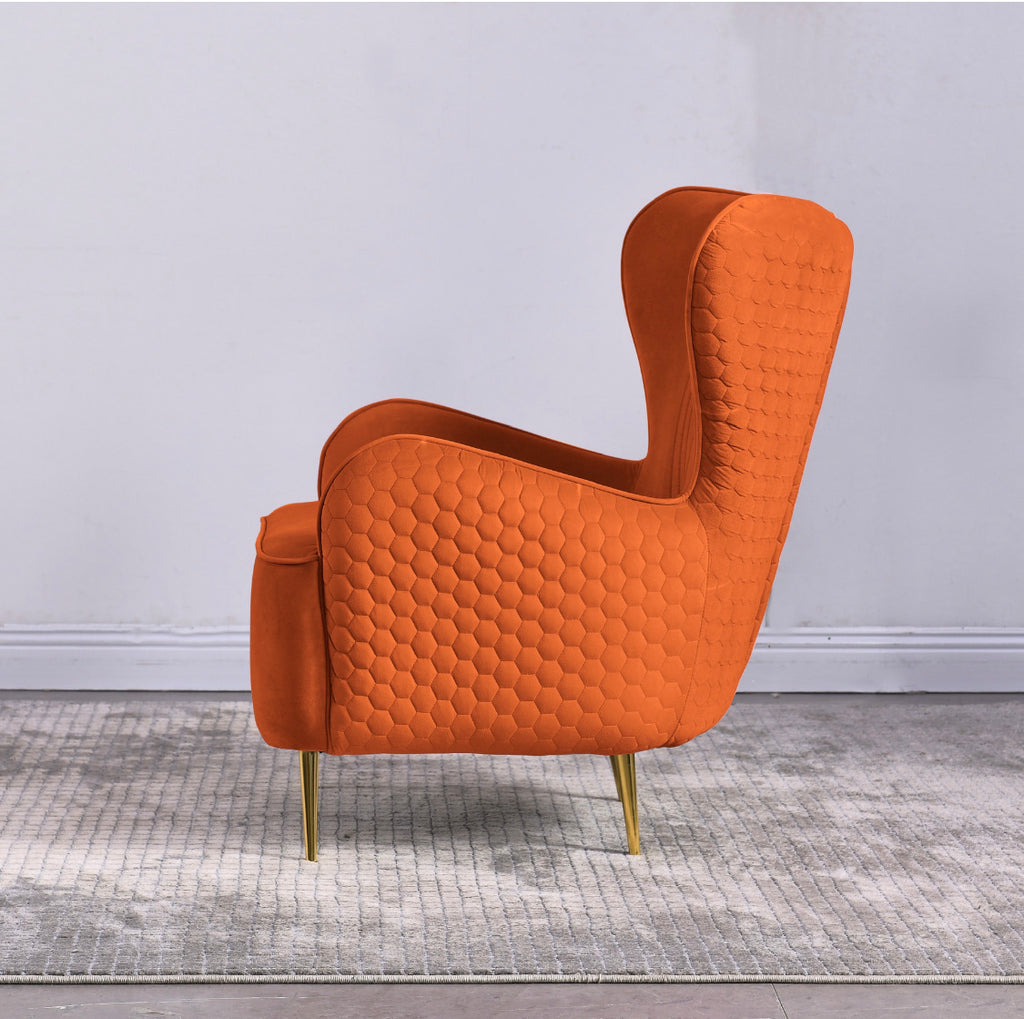 Rubeza Lottie Collection Armchair - Orange - 1807CC25048A