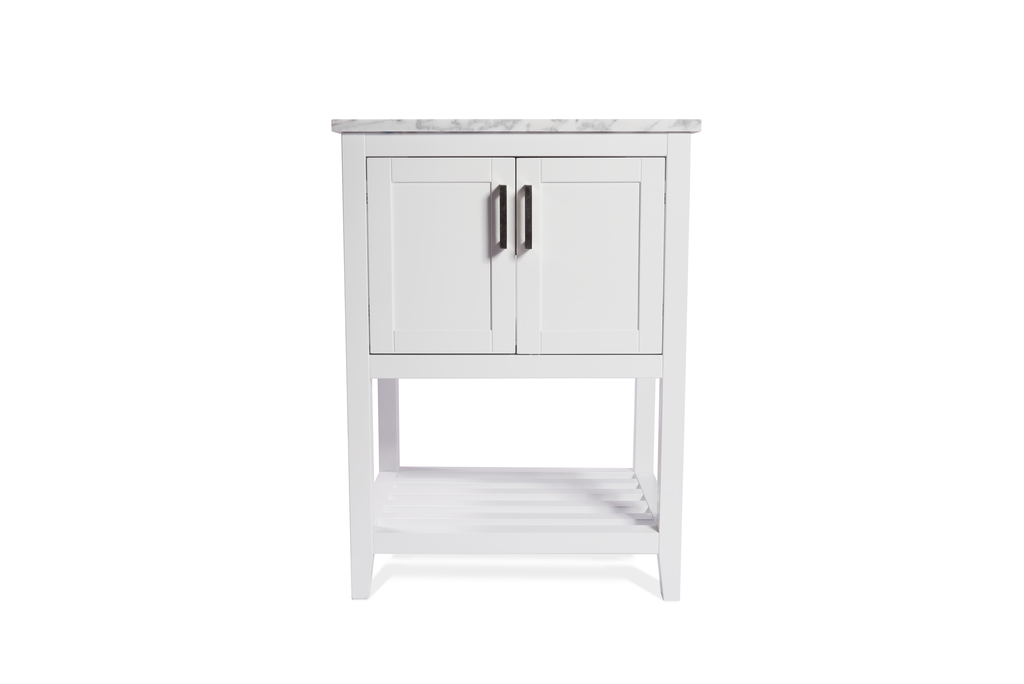 Rubeza Addison White Vanity Unit With Carrara Marble Top