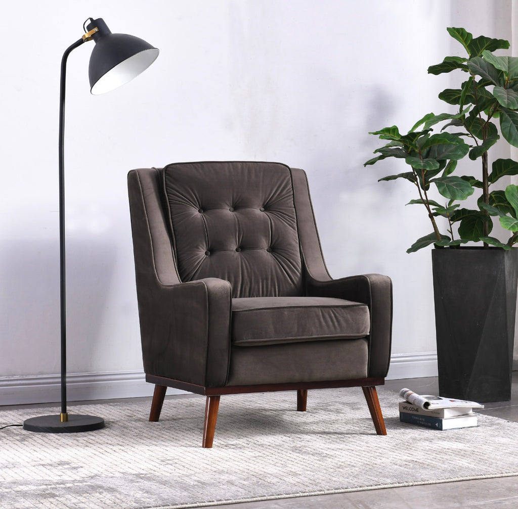 Rubeza Scott Collection Armchair - Dark Grey - 1807CC25037A