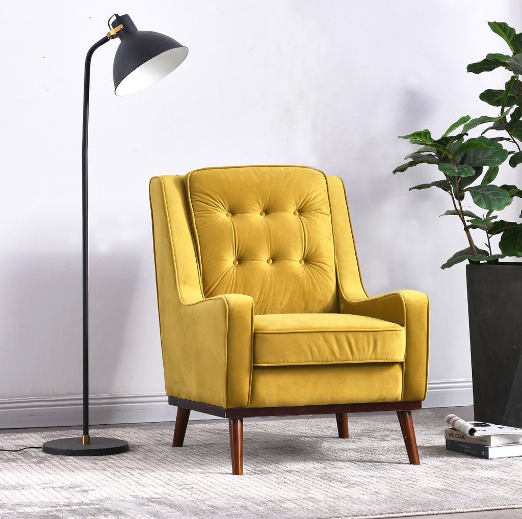 Rubeza Scott Collection Armchair - Gold - 1807CC25044A