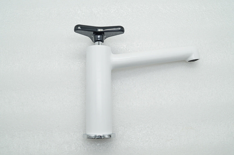 Rubeza Angela Collection Basin Mixer Tap - White & Black