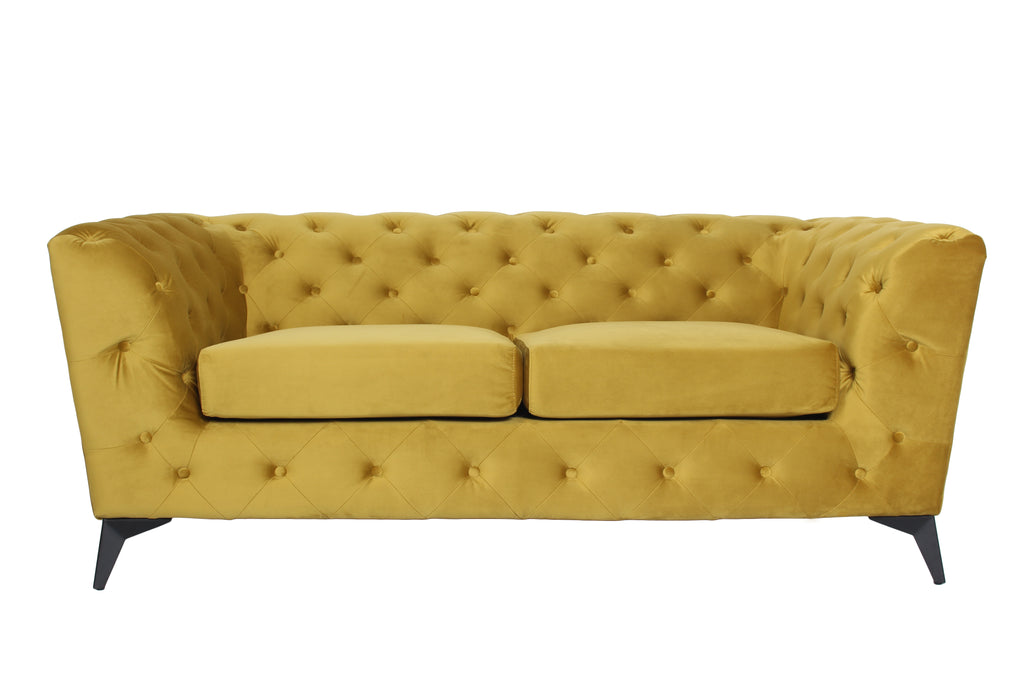 RUBEZA Sloan Collection 2 Seater Sofa - Yellow